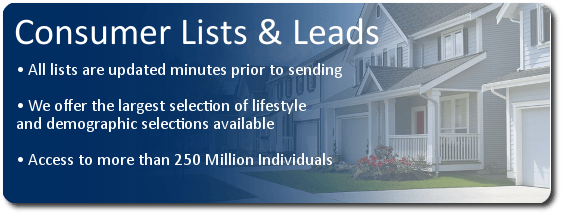 Consumer Mailing Lists & Leads